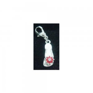 Red Flower Flipflop - Clip on Charm