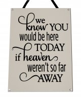 We know you would be here today - Rectangle Handmade Plaque