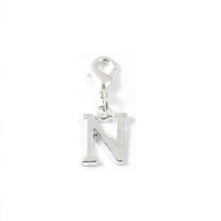 Letter N - Clip on charm fits Thomas Sabo style bracelets