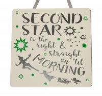 Peter Pan - Handmade wooden plaque