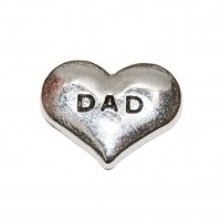Dad silvertone 10mm floating locket charm