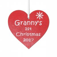 Granny's 1st Christmas 2017 red heart Tree decoration
