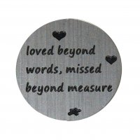 Loved beyond words 22mm Plate to fit 30mm Lockets