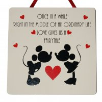 Once in a while - Disney - Handmade wooden plaque