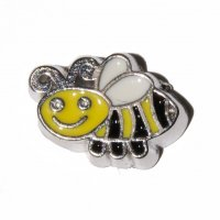Bee (a) 10mm floating charm - fits origami owl