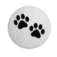 Pawprints 22mm Plate to fit 30mm Lockets