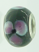 EB29 - Glass bead - Black and pink