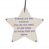 Friends are like stars - Star - Handmade plaque