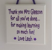 Personalised teacher - wooden plaque
