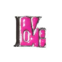 Love pink 9mm floating charm