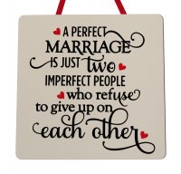 A perfect marriage - Handmade wooden plaque