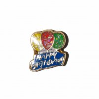 Happy Birthday balloons 8mm floating locket charm