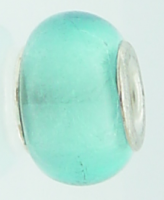 EB128 - Glass bead - Turquoise foil bead