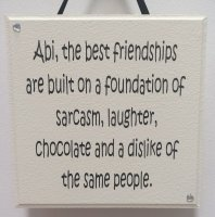 Personalised The best friendships - Granite - Handmade Plaque