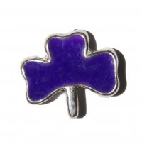 Shamrock purple 9mm floating locket charm