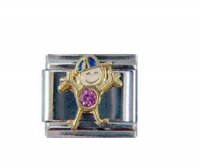 Little boy birthstone - June - alexandrite 9mm Italian Charm