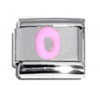 Pink Letter O - 9mm Italian charm