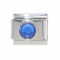 September small Circle Birthstone - Sapphire 9mm Italian charm