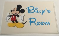 Mickey Mouse personalised room plaque - wooden handmade plaque