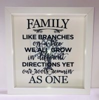 Family like branches - Box frame