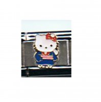 Hello Kitty blue and pink 9mm Italian charm