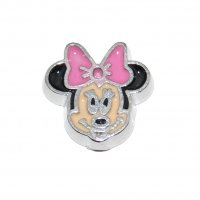 Minnie Mouse PINK Bow - 9mm Floating locket charm