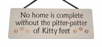 Pitter Patter Of Kitty Feet - Handmade wooden plaque