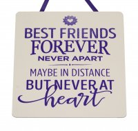 Best friends forever never apart - Handmade wooden plaque