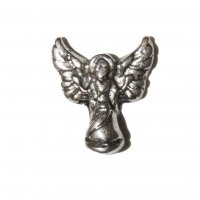 Angel silvertone 8mm floating locket charm