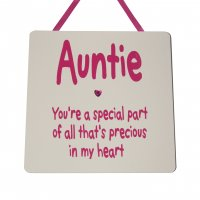 Auntie you're a special part - Handmade wooden plaque