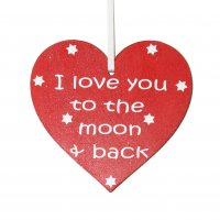 I Love you to the Moon and Back Heart Gift Tag