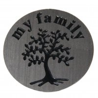 My Family with Tree 22mm Plate to fit 30mm Lockets