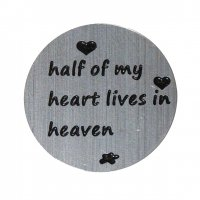 Half My Heart 22mm Plate to fit 30mm Lockets