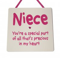 Niece - You're a special part - Handmade wooden plaque
