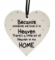 Because someone we love is in heaven - LARGE heart plaque