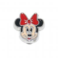 Minnie Mouse RED Bow - 9mm Floating locket charm