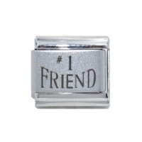 #1 Friend laser (b) - 9mm Italian charm