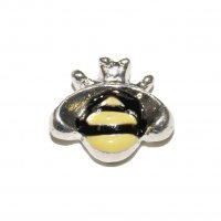 Bee (c) 8mm floating charm - fits origami owl