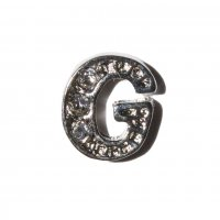 G Letter with stones - floating locket charm
