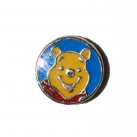 Winne the pooh on blue background 7mm floating locket charm