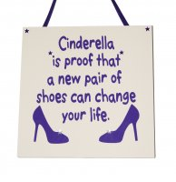 Cinderella is proof - Purple - Handmade Wooden Plaque