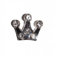 Crown with 6 stones 11mm floating locket charm