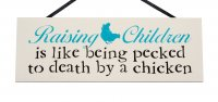 Rasing children - Handmade RECTANGLE plaque