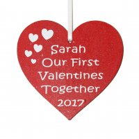 Personalised Our First Valentines Together 2017 Heart Gift Tag