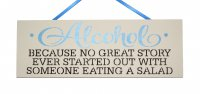 Alcohol/Salad - Handmade wooden plaque