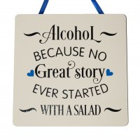 Alcohol/ Salad- Handmade SQUARE Plaque
