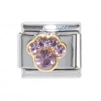 October - Birthstone Tourmaline - Pawprint 9mm Italian charm