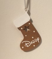 Gold Wooden Christmas Stocking personalised with any name
