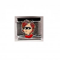 Incredibles - Mrs Incredible - enamel 9mm Italian charm
