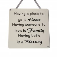 Home,Family, Blessing - Handmade wooden plaque